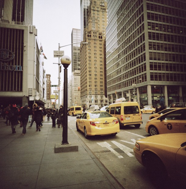New York Yellow cab - Lomo LC-A 120