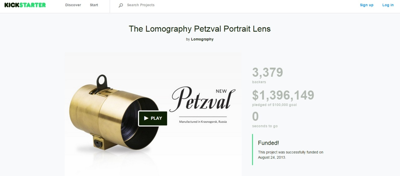 kickstarter Petzval