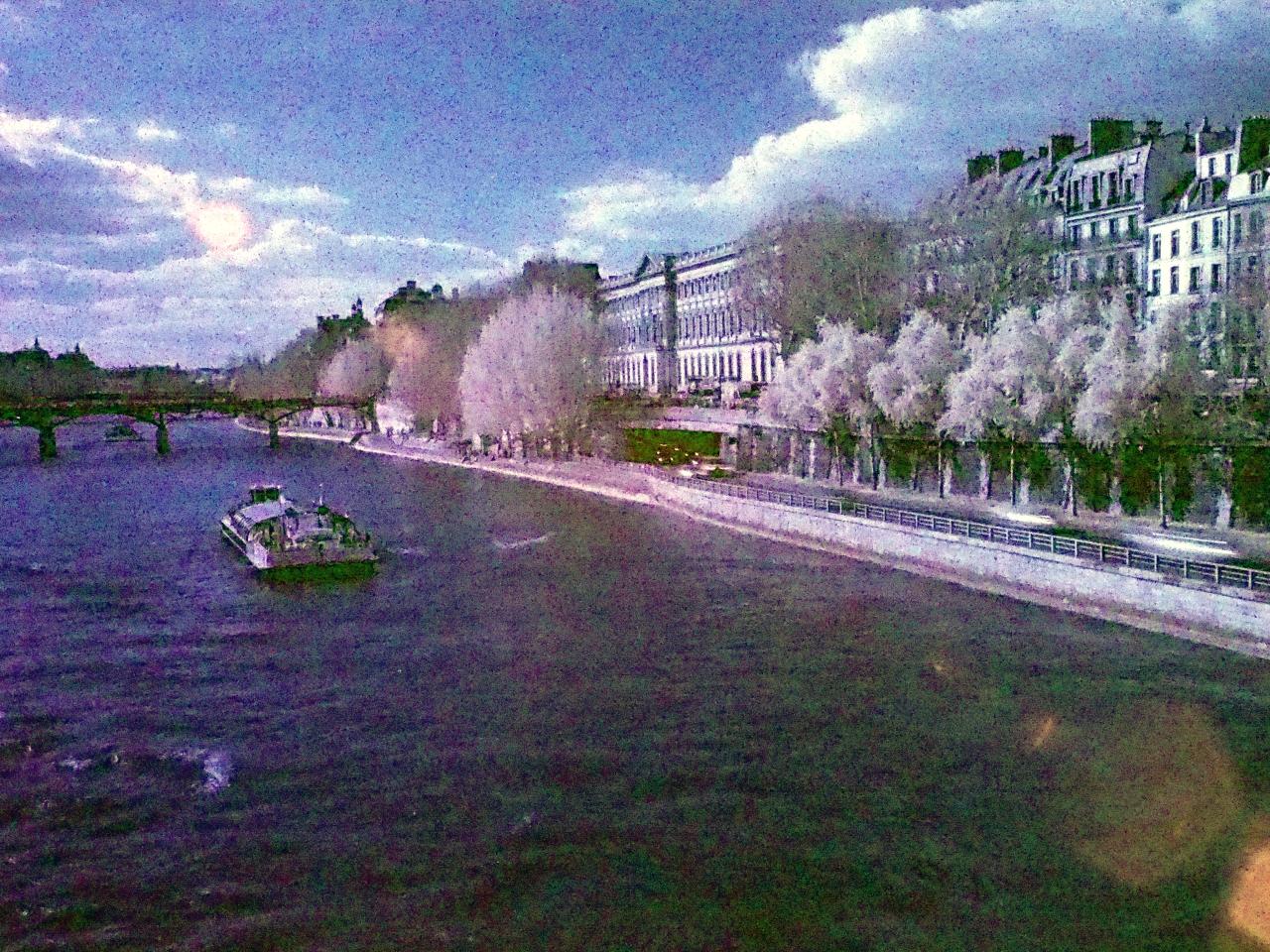 Pont des arts - Olympus OM-D EM-5 - filtre infrarouge heliopan 715