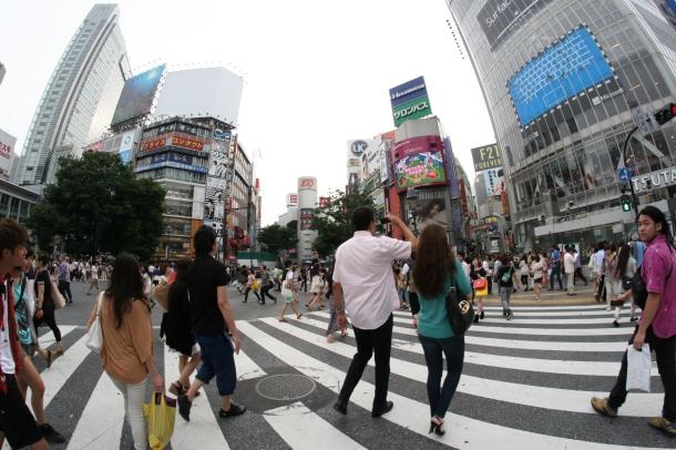 Canon EOS 20D - Objectif Fish Eye - Shibuya Tokyo Japan