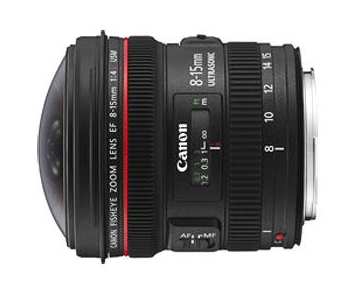 Objectif Canon 8 mm-15 mm f4.0 USM Fisheye prix fnac : 1199 euros