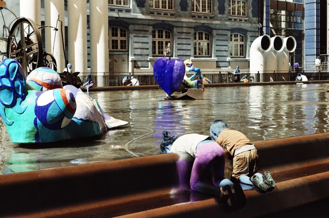 Ah l'amour ... Centre Pompidou - Lomochrome Turquoise - Canon A1