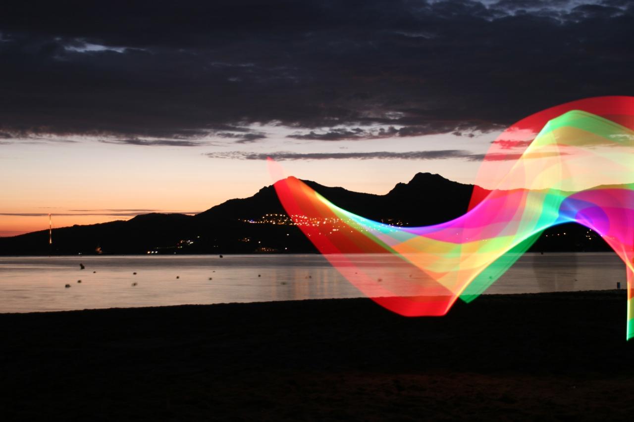 Lever de soleil à Calvi - Pixelstick - Canon EOS 20D