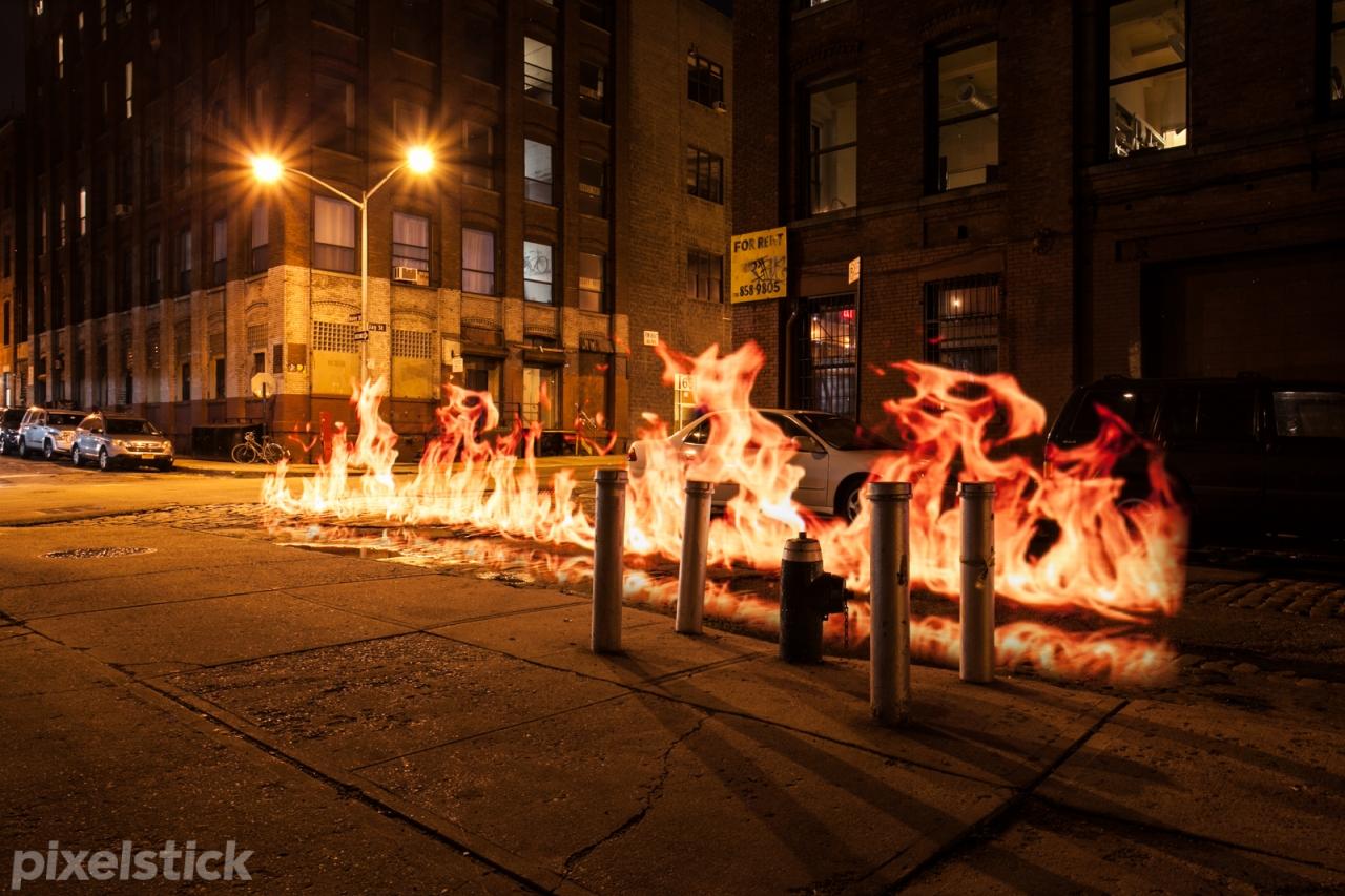 pixelstick Brooklyn flame