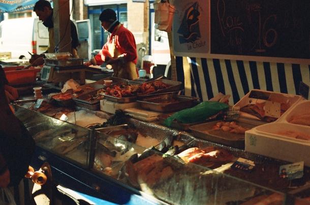 Le marché Rouen - Film Washi X 400 iso