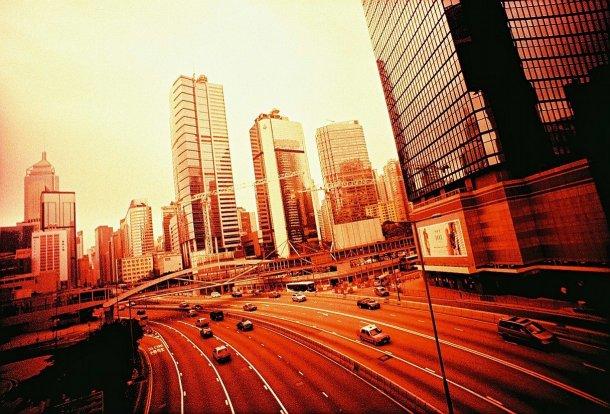 Gocchin Fuji Velvia 100 Lomo LC-Wide Hong Kong