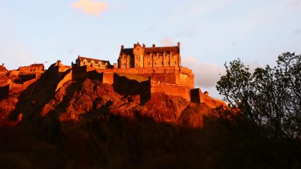 Le château d'Édimbourg au coucher du soleil - Olympus OMD E-M5