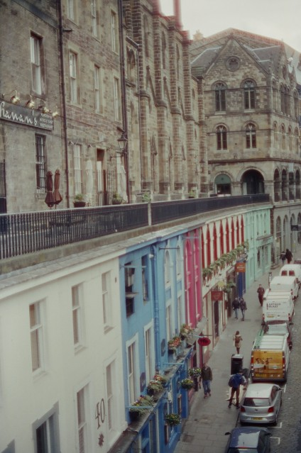 Down Street - Canon A1 - CineStill 800