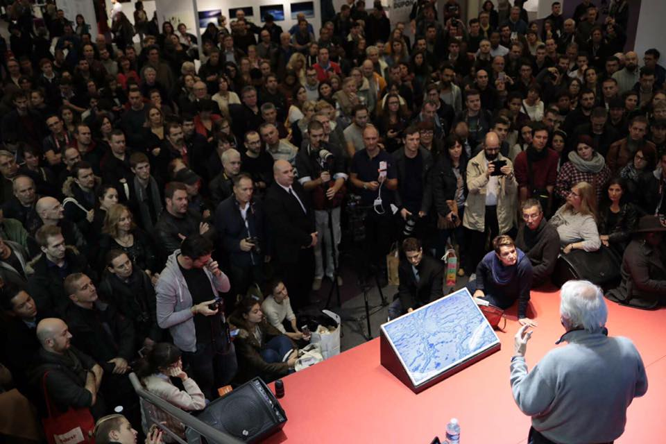 Yann Arthus-Bertrand (rien que ça) au stand Canon