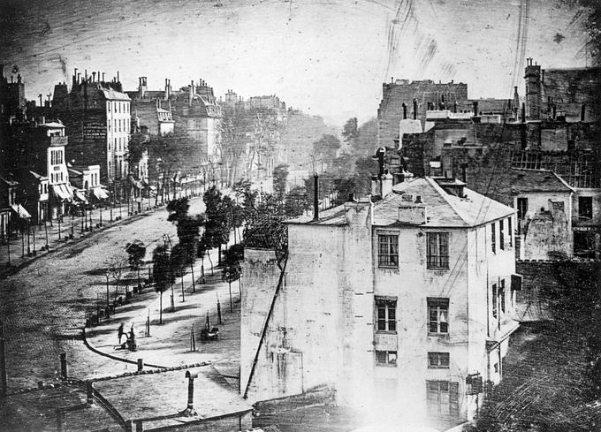 Boulevard du Temple à Paris en 1838